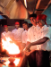 "<div class=""rtejustify""> 	Chefs creating flambé at the Intercontinental Resort Fiji. The resort offers delicious cuisine at six restaurants on the property, ranging from upscale to casual. Much of the appeal is dining above sparkling ocean views. </div>"